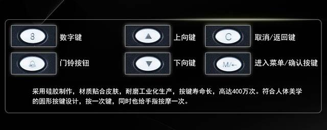 中控F7Plus指纹门禁机按键指示说明
