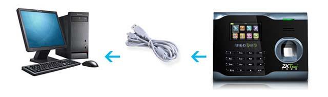USB数据线导出考勤数据方式